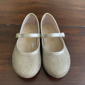 Gold Sparkle Toddler Dress Shoes